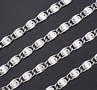 U7® 316L Titanium Steel Evergleam Chunky Chain Necklace for Men NEVER FADE! 6MM 55CM Christmas Gifts