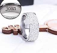 персональный подарок кольцо выгравированы ювелирные изделия из нержавеющей стали