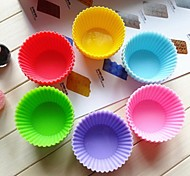 Circular Muffin Cups Ice Jelly Chocolate Mold,Silicone 7×4.5×3.5 CM(2.8×1.8×1.4 INCH)