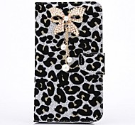 cheap -Case For Samsung Galaxy Samsung Galaxy Note Rhinestone Full Body Cases Leopard Print PU Leather for Note 3