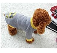 Gatto Cane Costumi T-shirt Abbigliamento per cani Cosplay Cartoni animati Grigio Costume Per animali domestici