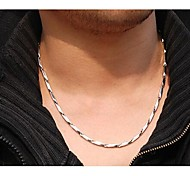 cheap -Stainless Steel Chain Necklace - Geometric Silver Necklace For Wedding Party Daily Casual