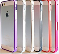 cheap -Case For iPhone 5 Apple iPhone 5 Case Shockproof Ultra-thin Bumper Solid Color Hard Metal for iPhone SE/5s iPhone 5