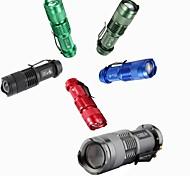 Светодиодные фонари Ручные фонарики LED 300 Люмен 3 Режим Батарейки не входят в комплект Мини для Походы/туризм/спелеология Повседневное