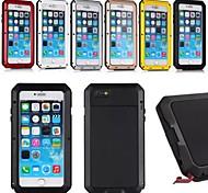 Недорогие -Фитин алюминия водонепроницаемый ударопрочный Gorilla Glass дело с сенсорным ID для iPhone 6 Plus (разные цвета)