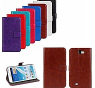 abordables -Para Samsung Galaxy Note Soporte de Coche / con Soporte / Flip Funda Cuerpo Entero Funda Un Color Cuero Sintético Samsung Note 2