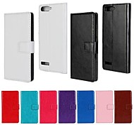 Solid Color PU Leather Full Body Case with Stand and Card Slot for Huawei P7 Mini (Assorted Color)