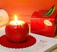 Недорогие -красное яблоко свеча подарок