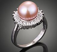 Femme Bagues Affirmées Mode Bijoux de Luxe Perle Imitation de perle Zircon Perle Rose Alliage Bijoux Pour Soirée