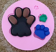 Footprints Fondant Cake Chocolate Silicone Mold Cupcake Cake Decoration Tools,L9.5cm*W9.5m*H1.5cm