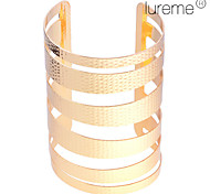 Women's Gold Plated Hammered Bangle Cuff Christmas Gifts