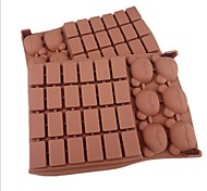 preiswerte -30 Lochgitterbärenform Kuchen Eis Gelee Schokoladenformen, Silikon 18 x 12,5 x 2 cm (7,1 × 4,9 × 0,8 Zoll)