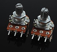 3-Pin B20K Volume Control Potentiometer for Guitar / Bass  (2 PCS)