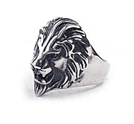 Z&X®  European Style Lion Titanium Steel Men's Statement Ring Christmas Gifts