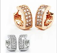 Women's Stud Earrings Heart Costume Jewelry Sterling Silver Cubic Zirconia Heart Jewelry For Wedding Party Daily