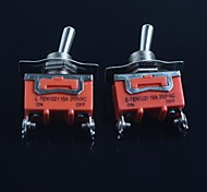 Toggle Switch (Feet Second Gear) 15A 250VAC(2Pcs)