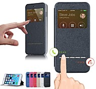Smart Front Window PU Leather Flip Case for iPhone 6 Plus iPhone Cases