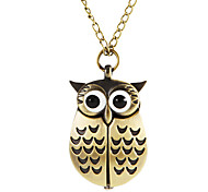 Women's Owl Style Alloy Band Quartz Necklace Watch (Assorted Colors) Cool Watches Unique Watches Fashion Watch Strap Watch