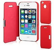 Für iPhone 5 Hülle Flipbare Hülle / Magnetisch Hülle Handyhülle für das ganze Handy Hülle Einheitliche Farbe Hart PU - LederiPhone