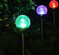 Набор 2 Изменение цвета Солнечная Crackle Glass Ball Доля Свет лампы сад
