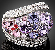 cheap -Women's Luxury Cubic Zirconia / Imitation Diamond / Alloy Statement Ring - Luxury / Fashion Purple / Screen Color Ring For Party