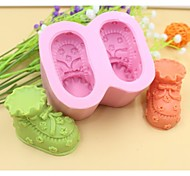 Baby Shoes Shaped Fondant Cake Chocolate Silicone Mold Cake Decoration Tools,L8.5cm*W7.2cm*H4.5cm