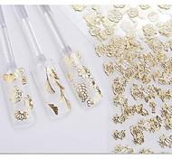 preiswerte -24pcs 3D Nagel Sticker Nagel Stamping Vorlage Alltag Blume Modisch Hochzeit Gute Qualität