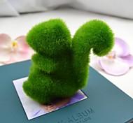 милый зеленый искусственная трава белка для автомобиля и домашнего декора