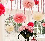 cheap -4 inch Tissue Paper Pom Poms Wedding Party Decor Craft Paper Flowers Wedding(Set of 4)