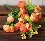 21 голова маленькая камелия бутон высокой симуляции цветы домашнее украшение