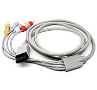 1,8 5.904ft wii 30pin Stecker auf S-Video + 3rca männlichen Signal Video-Audio TV-Kabel für Wii - grau