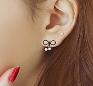 cheap -Women's Pearl Stud Earrings - Unique Design Fashion Bowknot For Party Daily Casual