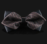 Men's Polyester Bow Tie,Vintage Party Work Casual Print All Seasons Silver Purple Yellow Dark Gray Royal Blue