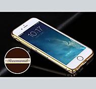 requintado de metal shell personalizado gravado atado a ouro pára-choques moldura para 4,7 polegadas do iPhone 6 (ouro, prata, preto, rosa)