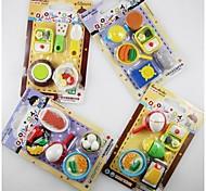 Недорогие -посуда в форме ластик комплект (случайный цвет)