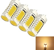 baratos -YouOKLight 4pçs 5W 400-450 lm G4 Lâmpadas Espiga T 4 leds COB Decorativa Branco Quente AC 12V DC 12V
