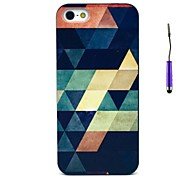 For iPhone 7 Plus  6s 6 Plus SE 5s 5 Retro Geometric Figure Pattern PC Hard Back Cover Case with Touch Pen