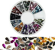 600PCS 12 Color Drop Shaped Diamond Nail Art Decoration
