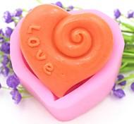 Love Heart Shaped Fondant Cake Chocolate Silicone Mold Cake Decoration Tools,L7.5cm*W7cm*H3.8cm