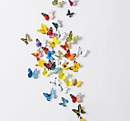 Животные / 3D Наклейки 3D наклейки Декоративные наклейки на стены,PVC материал Положение регулируется Украшение дома Наклейка на стену