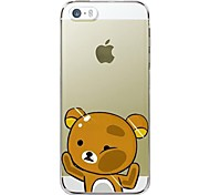 Yellow Bear TPU Back Case For iPhone 7 7 Plus 6s 6 Plus SE 5s 5