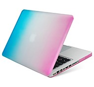 "Case for Macbook Air 13.3"" Color Gradient Plastic Material Colorful Plastic Protective Case Pink and Blue"