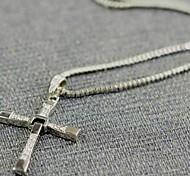 Муж. Ожерелья с подвесками Крестообразной формы Титановая сталь Сплав Фильм ювелирные изделия бижутерия Бижутерия Назначение Повседневные