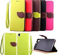 Недорогие -Для Кейс для HTC Бумажник для карт / Кошелек / со стендом / Флип Кейс для Чехол Кейс для Один цвет Твердый Искусственная кожа HTC