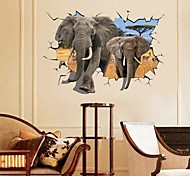 cheap -Landscape Animals Still Life Romance Fashion Fantasy 3D Wall Stickers 3D Wall Stickers Decorative Wall Stickers, Paper Home Decoration