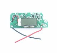 """FX-608-PCBA DIY 1,2 """"ЖК-двойной USB выход 5В повысить печатных плат модуля ж / светодиодный для мобильного власти - серебро + синий"""