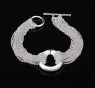 Xu™ Women's  925 Silver-Plated Heart-shaped Multideck Charm Bracelets