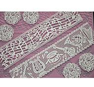 baratos -Four-C bolo suprimentos rendas silicone mat embossing molde para bolo rendas, almofada baking esteira do laço cor-de-rosa ferramentas de decoração