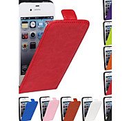 cheap -Genuine Crazy Horse PU Leather Slim Light Flip Case Cover for iPhone 4/4s