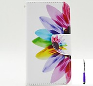 Beautiful Petals Pattern PU Leather Case Cover with A Touch Pen ,Stand and Card Holder for Nokia Lumia 630